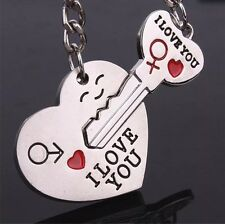 B86 His Hers Couples Key Chains Rings Lock Key Heart Arrow I Love You Valentine