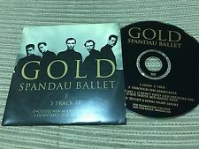 SPANDAU BALLET 5 TRACK EP CD SINGLE PROMO CARD SLEEVE GOLD - CHANT Nº1 NEW MIX
