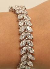 18K White Gold Finish 1.5ct Diamond Tennis Marquise Diamonds Bracelet
