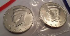2001 P & D Kennedy Half Dollar Set (2 Coins) *MINT CELLO*  **FREE SHIPPING**