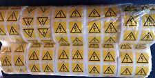 Safety Warning  AC DC Danger High Voltage Flash Sticker Roll X 10 Rolls