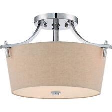 Quiozel Large Semi Flush Mount Ceiling Light Fixture Polished Chrome QX3157S