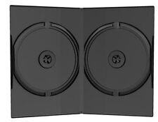 100 CUSTODIE DVD doppie NERE 14mm per CD DVD -R DOPPIA per verbatim tdk box12
