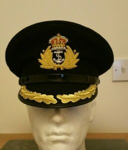 WW1 WW2 British Royal Navy Captain Commander Officers Peaked Cap Hat King Crown