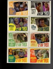 Star Trek  TOS The Captain,s Collection Lobby Cards by Juan Ortiz  80 card set