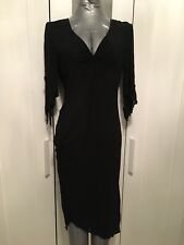 Armani Jeans Morticia Style Dress Size 10-12 I44 Perfect Condition