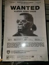"""Rockstar Games Grand Theft Auto IV """"Little"""" Jacob Hughes Wanted Poster"""