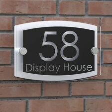 Displaypro Clear Acrylic House Sign Door Number Plaque Name Road Plate Plaques