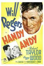HANDY ANDY Movie POSTER 27x40 Will Rogers Peggy Wood Mary Carlisle Paul Harvey