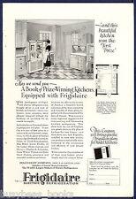 1926 FRIGIDAIRE refrigerator advertisement, large electric icebox modern kitchen
