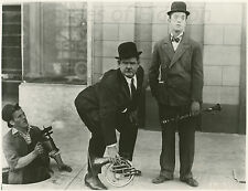 "Laurel & Hardy & Chet Brandenburg 1928 ""You're Darn Tootin'"" Movie Still b/w"