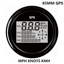 MPH Knots KM/H GPS Speedometer For Motorcycle Car Truck Boat Marine Digital 85MM