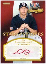J.P. RAMIREZ 2013 Panini USA Baseball Rookie Auto Red 1/25 Card JP (x)