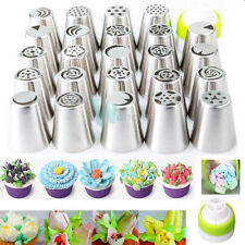 24lots DIY Russian Icing Piping Nozzles Tips Cake Decorating Pastry Baking Tool