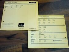 ROVER Serie 800 Service Daten 1990 original Inspektionsblatt WERKSTATT HANDBUCH