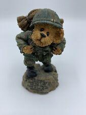 Boyds Bear Bearstone Gi Bruin Stand Up For Freedom Military Usa Figurine 228387