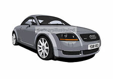 AUDI TT CAR ART PRINT PICTURE (SIZE A3). PERSONALISE IT!