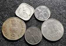 1978-2004 India (Rupee & Paisa) coin, F, 5pcs (plus FREE 1 coin) #D4992
