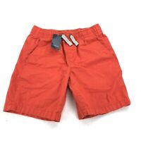 Lands End Kids Small Size 8 Shorts Papaya Red Drawstring Pull On Woven 001N