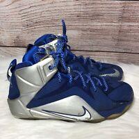 Nike LeBron XII 12 Cowboys Deep Royal Blue GS Grade School Size 7Y 685181-400