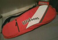 Tennis Racquet Bag Wilson with adjustable shoulder strap small accessory pocket