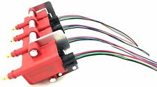 4 Ignition Coil Packs Mounting Bracket & Wire Loom Pigtails for Mercury & Custom