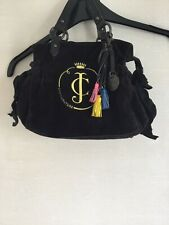 Juicy Couture Black Velour Womens / Girls Handbag