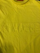 Ferrari T Shirt Official Licensed Product Sz Small Yellow Embossed Spell Out GUC