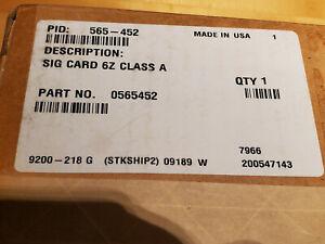 SIMPLEX 565-452 0565452 REPLACEMENT BOARD SIG CARD 6Z CLASS A PCA 4100 NIB