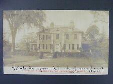 Cambridge Mass Henry Wadsworth Longfellow Home Real Photo Postcard RPPC 1908