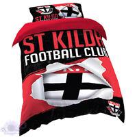 St Kilda Saints Quilt | Doona Cover Set | AFL Aussie Rules | Football | Single