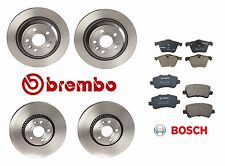 For Volvo S60 S80 V70 Front & Rear Disc Brake Brembo Rotors & Bosch Pads Kit