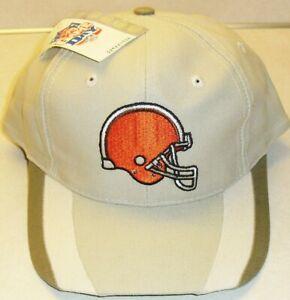 Cleveland Browns Vintage 90s Snapback hat Light tan color Original New Nfl