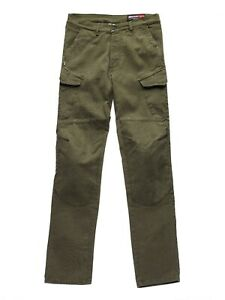 Blauer HT Stuart Cargo Khaki Mens Motorcycle Trousers Size 32 *FAST UK DELIVERY*