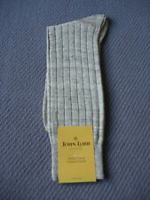 NWT JOHN LOBB LINEN BEIGE MEN SOCKS MADE IN ITALY