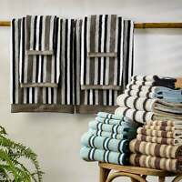 Miranda Haus Stripe Cotton Bath Towel (Set of 2)