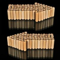 6mm x 50mm HARDWOOD MULTIGROOVE CHAMFERED WOODEN DOWELS FLUTED PINS CRAFT WOOD