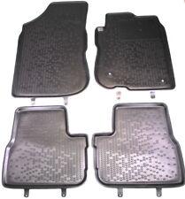 LOGO Fully Tailored black floor car mats fits PEUGEOT 307 HTB SW 2001-2008 4pc