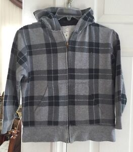 Old Navy Boys Gray Sweater Full Zipper Hoodie Size S