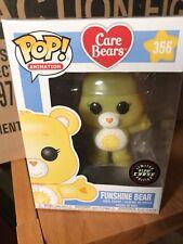 FUNKO POP CHASE GLOW IN THE DARK CARE BEAR FUNSHINE BEAR #356 ANIMATION BN