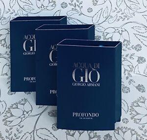3 x Giorgio Armani ACQUA DI GIO PROFONDO EDP Eau De Parfum 1.2ml/0.04oz