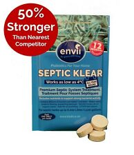 Envii Septic Tank Treatment and Cleaner Bacteria Tablet - 12 Months Supply