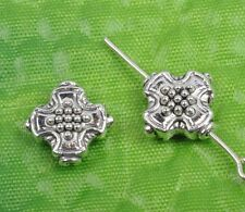 50Pcs tibetan silver cross Spacer Beads Findings 12X12MM