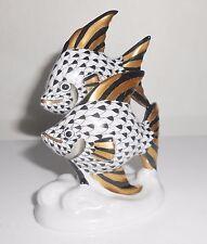 HEREND ANGEL FISH BLACK & GOLD FISHNET 15273