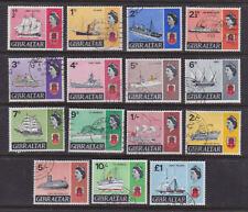 Gibraltar 1967 Used FU Full Set Definitives 15 values Ships Mary Celeste Victory