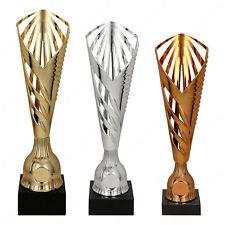 Tris coppe Trofei per premiazione Targhetta personalizzata omaggio 1° 2° 3°
