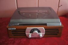 JENSEN 3-SPEED 33/45/78  WOODEN CASE TURNTABLE RECORD PLAYER AM/FM STEREO