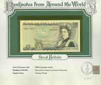 World Banknotes Great Britain 5 pounds 1980-87 P 378c UNC Somerset KR80