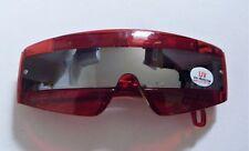 Red Retro Visor Light Up Wrap Round Mirror Sunglasses