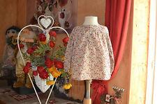 blouse bonpoint 18 mois   liberty fond beige petites fleurs delicates